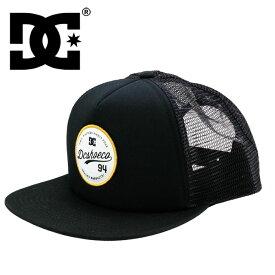 DC SHOES CAP フラットバイザー スナップバックキャップ メッシュキャップ 帽子 CAP ぼうし 黒