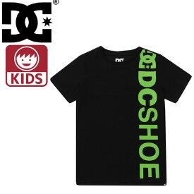 ディーシーシューズ ビッグロゴ 子供用 半袖Tシャツ ブラック キッズTシャツ DCSHOES 男の子 7126J804