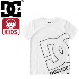 ディーシーシューズ 子ども用 クルーネックTシャツ ホワイト キッズ半袖Tシャツ 子供服 7126J805 白色