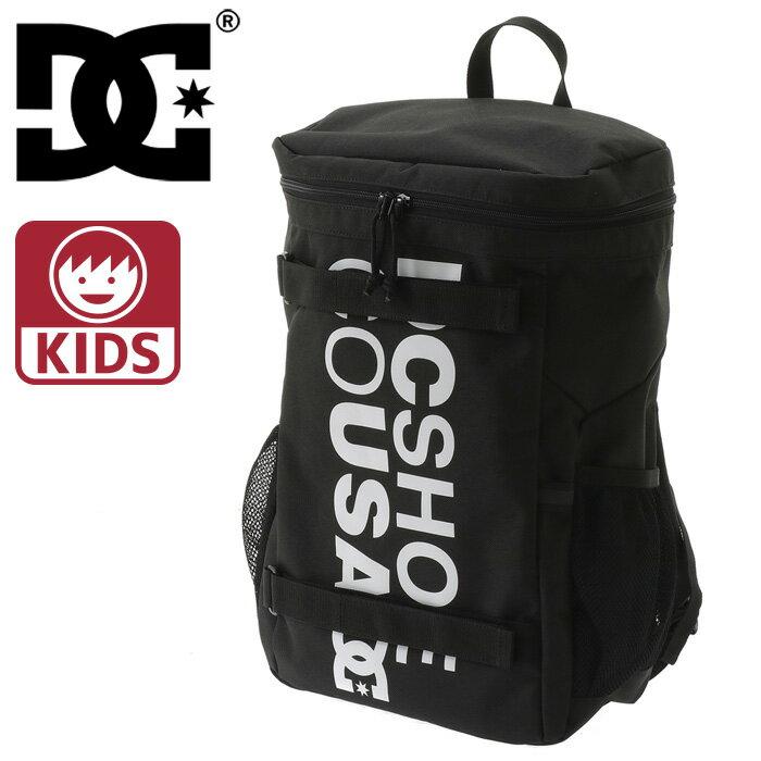 ディーシー キッズ バックパック DC リュックサック デイパック バッグ 鞄 黒 ブラック