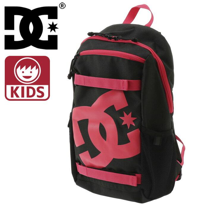 ディーシー キッズ バックパック DC リュックサック 11L デイパック バッグ 鞄 黒 ブラック ピンク