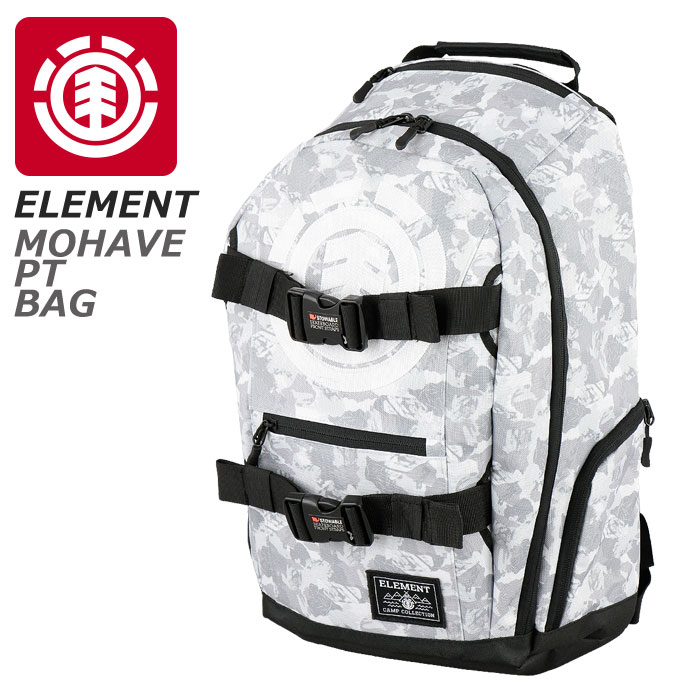 ELEMENT メンズバッグ ホワイト バックパック エレメント リュックサック AH021952 白 MOHAVE PT バッグ