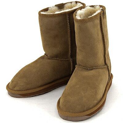 エミュー STINGER LO ムートン ブーツ :emu ブーツ スティンガー ロー W10002 ウール 撥水 人気 防臭 保温 CHESTNUT チェストナット 栗 シープスキン BOOTS