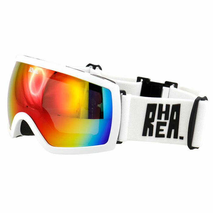 レア RHEA 球面レンズ くもり止め フレーム ミラーレンズ スキーゴーグル スノー RH-400 白 ホワイト