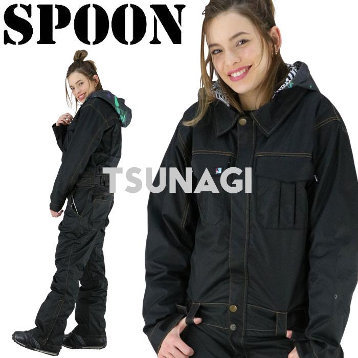スノーウェア オールインワン つなぎ ブラック 黒 防水 防寒 アウトドア 男女兼用 スキーウェア 雪