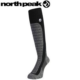 スノーソックス ソックス サーモライト スキー スノーボード 靴下 NORTH PEAK ブラック