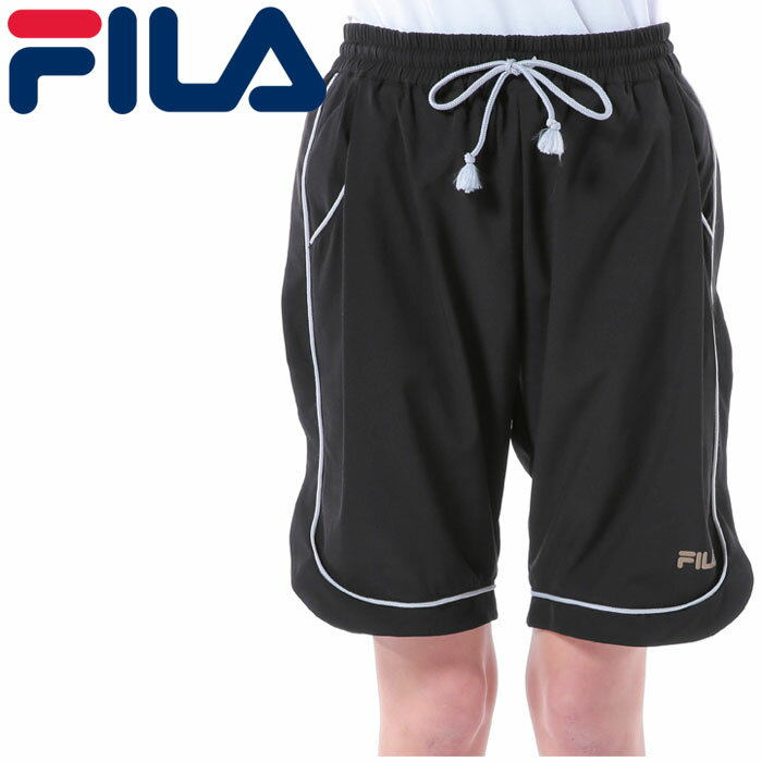 【メール便対応】レディース 撥水 ハーフパンツ 半ズボン FILA 黒色 スポーツ トレーニング