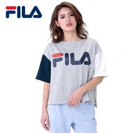 フィラ レディースTシャツ BOX型 トップス 半袖 ビッグロゴ FILA おしゃれ カジュアル グレー 通販 販売 人気ブランド
