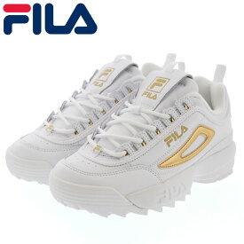 スニーカー FILA ディスラプター2 ダッドシューズ レディース F0432-0141 ホワイト ゴールド