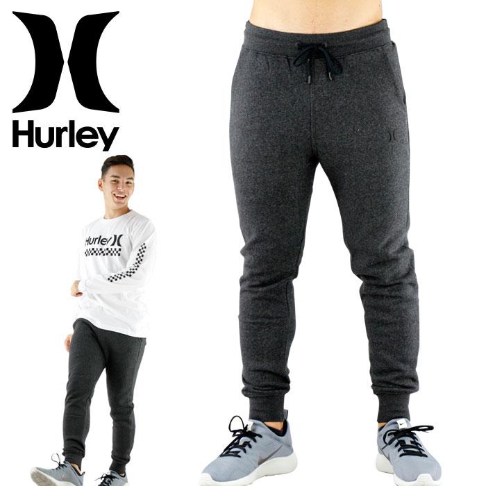 SALE ハーレー スウェットパンツ 黒 サーフブランド ジョガーパンツ HURLEY フリースパンツ 裏起毛
