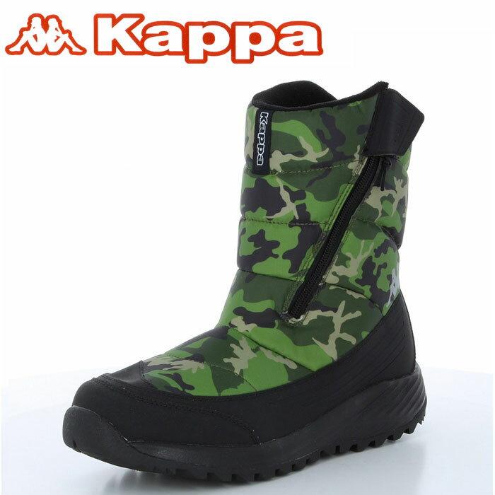 カッパ スノーブーツ 防水仕様ブーツ KAPPA KP SBU83 バーチョZIP グリーン/ カモフラ