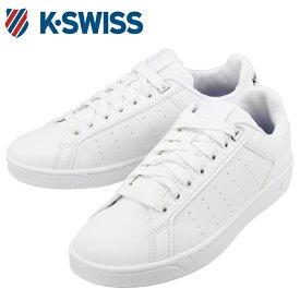 ケースイス KSWISS 36054340 合皮 スニーカー シューズ 白 黒 ホワイト ブラック くつ 靴