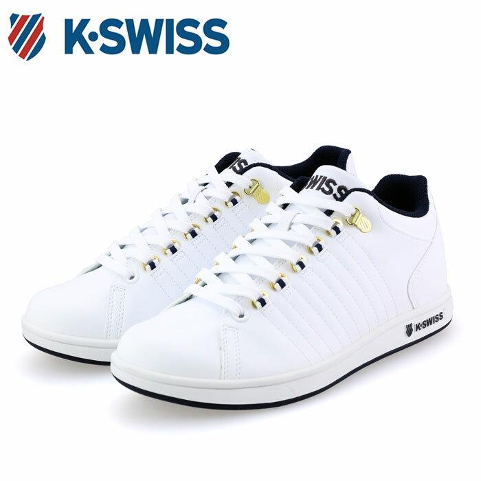 送料無料 ケースイス スニーカー ミッドカット シューズ ホワイト KSWISS KSL01 36800018 K・SWISS