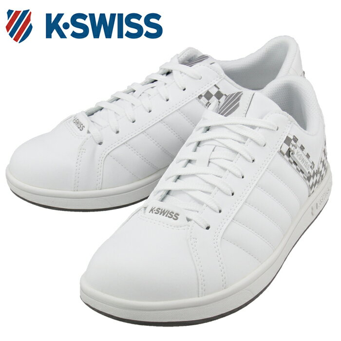 【送料無料】メンズスニーカー チェック KSWISS KSL 03 36800030 白 ケースイス シューズ ホワイト