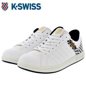 ケースイス ホワイト 定番 レザースニーカー メンズ レディース チェッカー柄 KSWISS KSL03 36800035