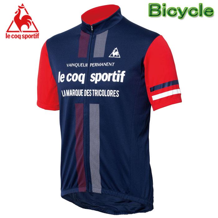 ルコック サイクル半袖ジャージ サイクルウエアー メンズ 自転車用半袖シャツ Lecoq QC-741671