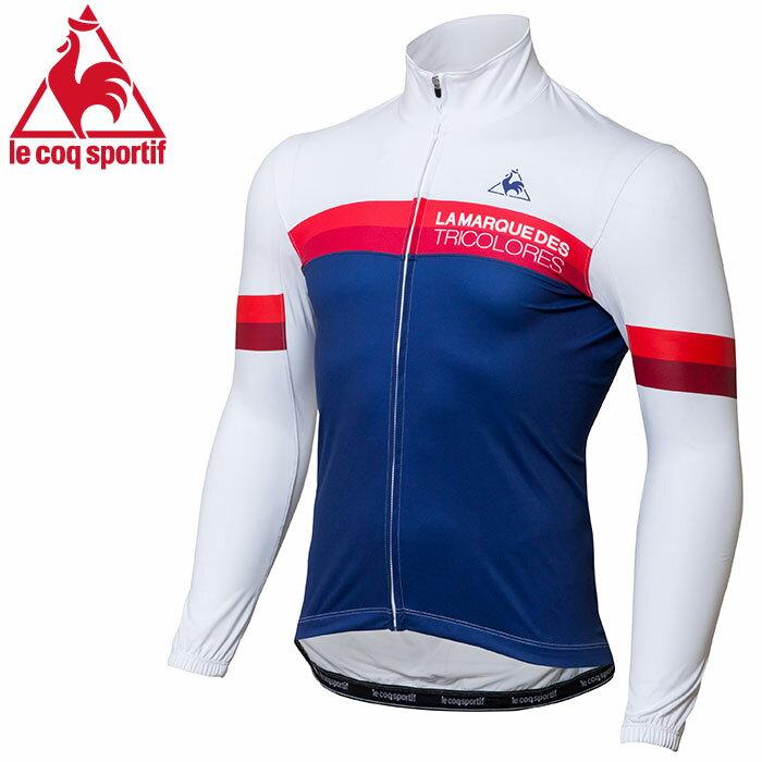 ルコック サイクル ウィンドバリアジャージ ホワイト 白 ネイビー Lecoq メンズ 自転車 ジャージ QC841273 おすすめ サイクリングウェア サイクルジャージ 自転車用ウェアー サイクリングウエアー 人気 即納