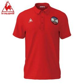 ルコック スポーツウエア 半袖ポロシャツ ゴルフ テニス 吸汗速乾 UVカット Lecoq 赤色 レッド