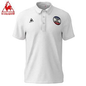 ルコック 半袖ポロシャツ 白色 スポーツウエア ゴルフ テニス Lecoq ホワイト 襟付き 吸汗速乾 UPF20