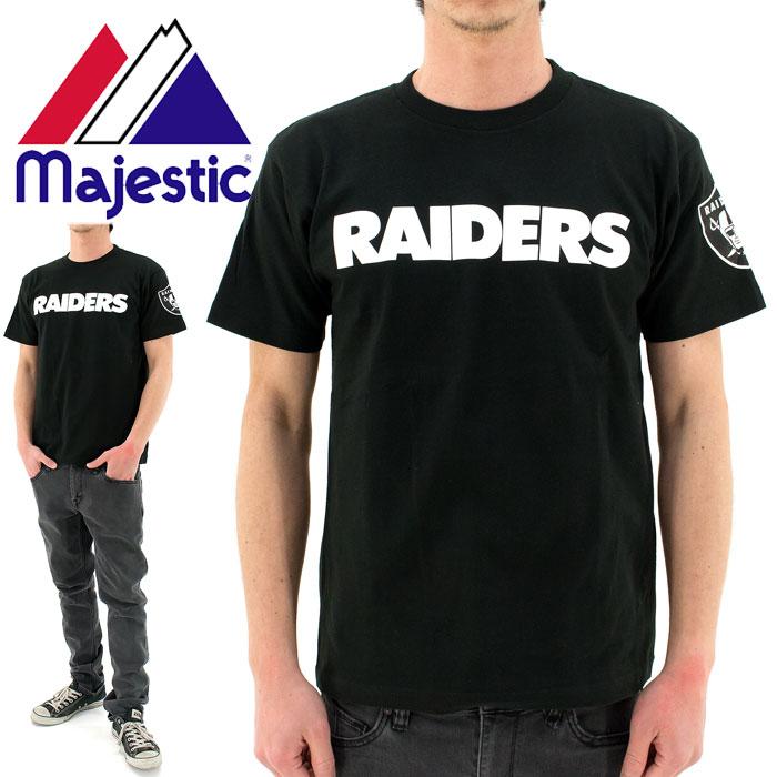 MAJESTIC(マジェスティック)Tシャツ (NM01-OLR-0022 BLK5) NFL オークランド レイダーズ チームロゴ