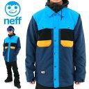 NEFF(ネフ) MACK JACKET NAVY 撥水 ソフトシェル スノボウェア シャツジャケット スノボ 16F75002