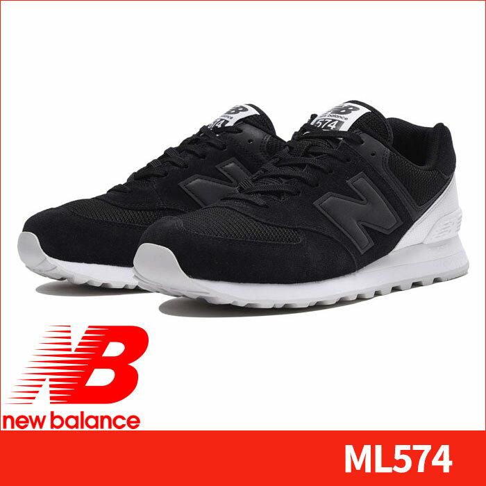 ニューバランス スニーカー ML574 WA ブラック カジュアルスニーカー NEWBALANCE カジュアルシューズ 黒色