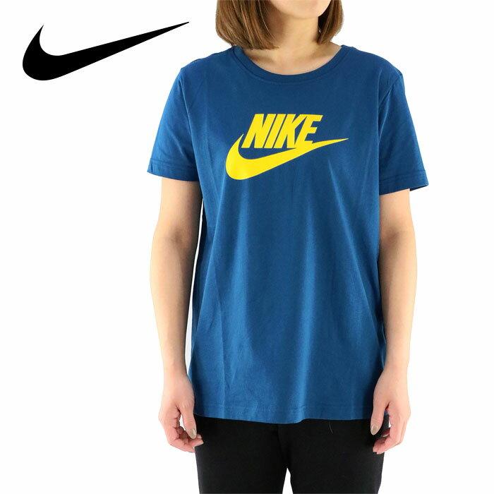 ナイキ レディースTシャツ ナイキ 半袖Tシャツ ロゴTシャツ ブルー NIKE 846469-474