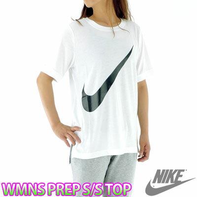 NIKE ナイキ ビッグ スウォッシュ レディース Tシャツ 白 半袖 ビッグロゴ スポーツカジュアル 831108