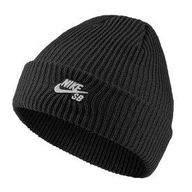 ナイキ エスビー ニット帽 ビーニー フィッシャーマン ブラック ロゴ 刺繍 628684