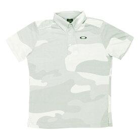 オークリー メンズ 半袖 ゴルフ ポロシャツ UVカット スポーツウェア カジュアル FOA400844 100 WHT