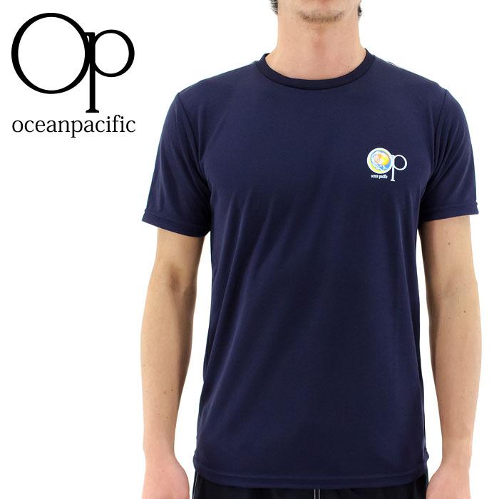 516490 OP ラッシュガード 半袖 水着 ラッシュTシャツ UVカットTシャツ 水陸両用 オーピー 丸首Tシャツ 即納 人気 オーシャンパシフィック OCEAN PACIFIC 2016 ネイビー 紺色 通販 販売