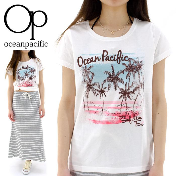 【セール】オーピー レディス 半袖Tシャツ OP プリントTシャツ カットソー 526551D 通販 販売 即納 人気 オーシャンパシフィック OCEAN PACIFIC トップス レディスTシャツ 半そでTシャツ クルーネックTシャツ