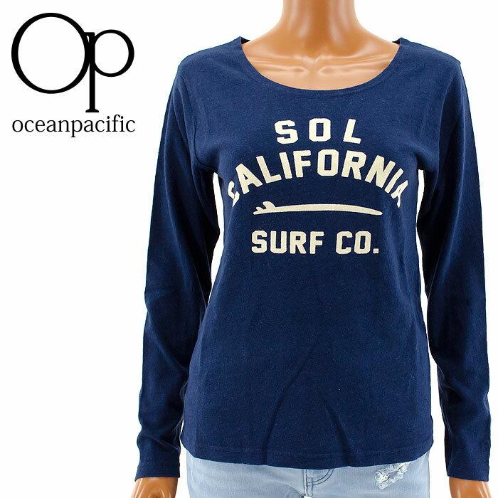 【セール】ロンT レディース OP 555079 長そでTシャツ オーシャンパシフィック SURF
