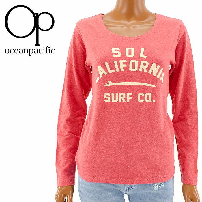【セール】OP 555079 ロンT レディース SURF 長そでTシャツ オーシャンパシフィック