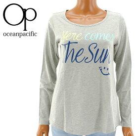 【セール】OP レディス ロンT ロング丈 555092 オーピー 長そで Tシャツ ビッグTシャツ グレー