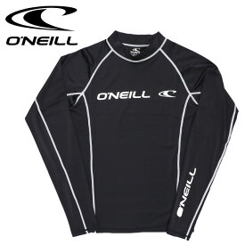 オニール 長袖ラッシュガード 水着 Tシャツ ONEILL 618472 ラッシュTシャツ ブラック