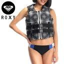 ロキシー ROXY レディースライフジャケット 大人用 ウエストベルト調整 2017年新作 保温性 RWT172901 ブラック