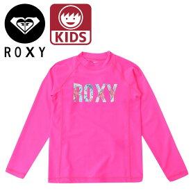ロキシー キッズ ガールズ 子供 水着 長袖 ラッシュガード ピンク ROXY MINI HOLIDAY LOGO L/S TLY181105