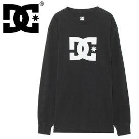 DC SHOE Tシャツ 長そで ディーシー ティーシャツ ロゴ コットン 黒色 綿100%
