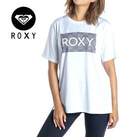 ROXY レディース 吸水速乾 フィットネス Tシャツ ラッシュガード MESH LOGO RST201533 UVカット 水陸両用