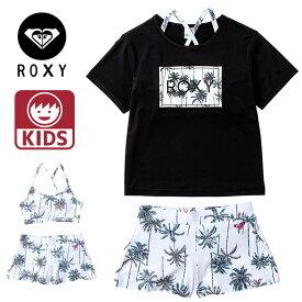 ROXY 水着 キッズ Tシャツ ラッシュ 3点セット トップス MINI PALM SHADOW ビキニ ジュニア ロキシー