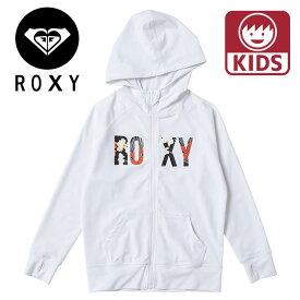 ROXY キッズ ラッシュガード ミニ ボタニカル ロゴ パーカー ラッシュ ロキシー TLY201104 ジップアップ