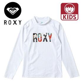 ROXY ラッシュガード TLY201105 ミニ ボタニカル ロゴ ロングスリーブ キッズ ラッシュ 長袖 ロキシー