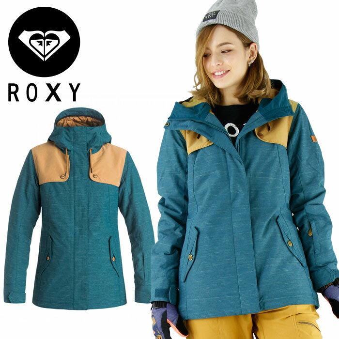 【セール】ロキシー スノー レディースジャケット ボードウェア ROXY 女もの ERJTJ03049 緑 GREEN 上着
