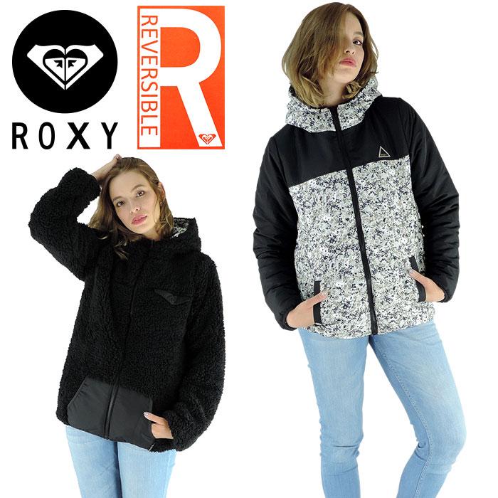 ロキシー もこもこジャケット 黒色 リバーシブルジャケット ブラック レディース ROXY BREAK RJK164003
