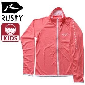 RUSTY 無地 ラッシュ 子供用 長袖 ピンク色 ラッシュガード ラスティー 969470