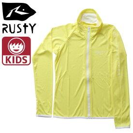 RUSTY キッズラッシュ 黄色 ラスティー 969470 ラッシュガード イエロー 日よけ ラッシュガード