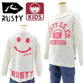 【セール】110〜150 ラスティ 子供服 長袖Tシャツ Rusty ニコちゃんTシャツ 976050