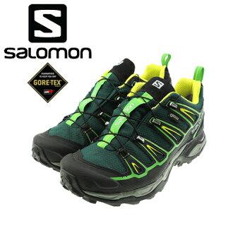 SALOMON沙洛文GORE-TEX X ULTRA 2 GTX X超2戈爾紡績品L39184000徒步旅行鞋