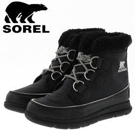 ソレル レディースブーツ 防雪ブーツ 防寒ブーツ エクスプローラーカーニバル ブラック Sorel NL3040